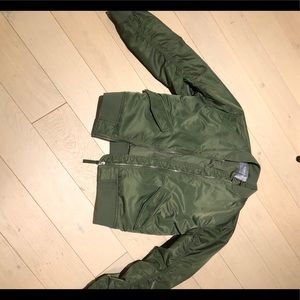 Everlane Green Bomber Jacket, S, Great Conditions